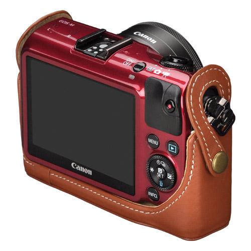 ピクスギア 本革ボディケース Canon EOS M 専用