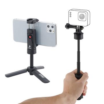コンパクトカメラやスマートフォン、アクションカメラに対応