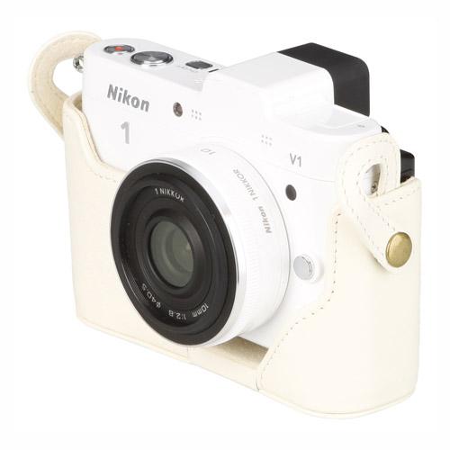 ピクスギア 本革ボディケース Nikon 1 V1専用
