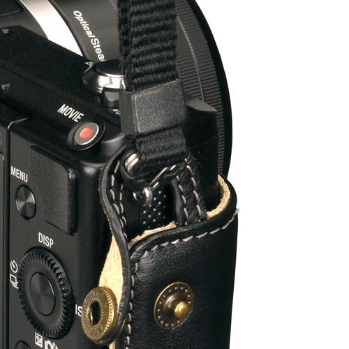 ハクバ SONY α5000 専用 本革ボディケース ブラック