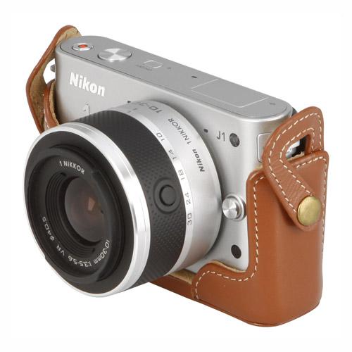 ピクスギア 本革ボディケース Nikon 1 J1専用